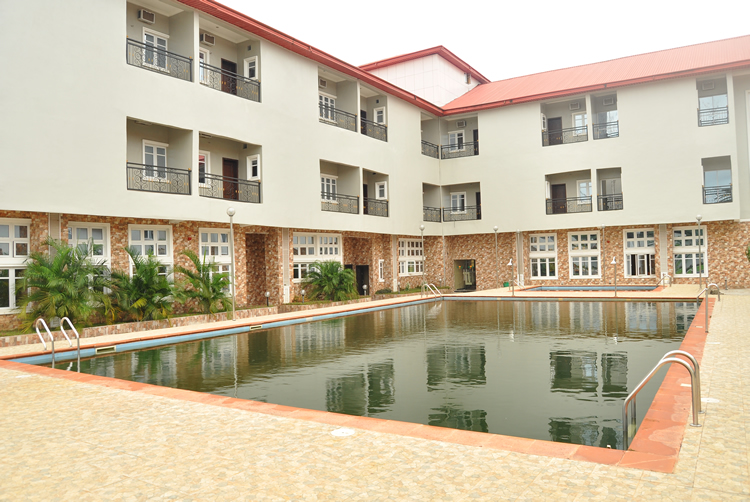 The hotel with swimming pool