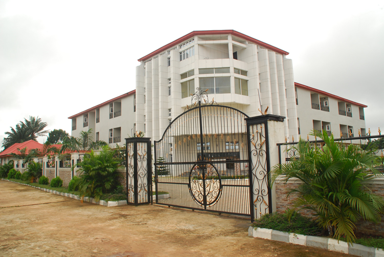 The front view of the Nnewi Hotel